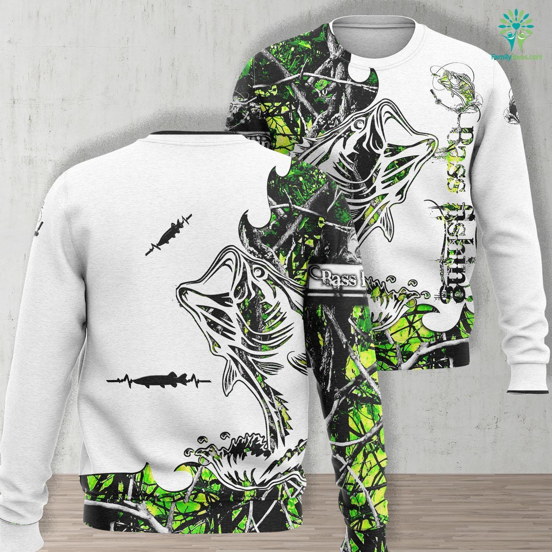 Grand Lake Fishing Report Musky Fishing Muskie Heartbeat Fishing Gift Uni Long Sleeve Sweatshirt All Over Print Familyloves