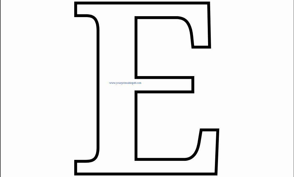 Letter E Coloring Page Elegant Printable Letter E Coloring Page Printable Letters Alphabet Stencils Printables Printable Alphabet Letters