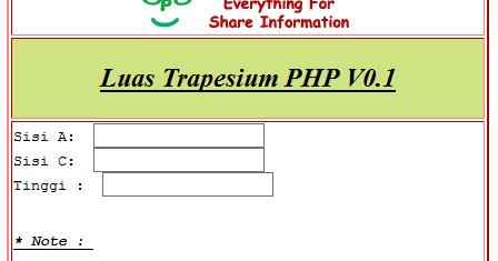 Opodab Com Menghitung Luas Dan Keliling Bangun Datar Menggunakan Php Dan Html Pada Kasus Ini Adalah Menghitung Luas Trapesium Menggunakan Php Dan Html Den Php