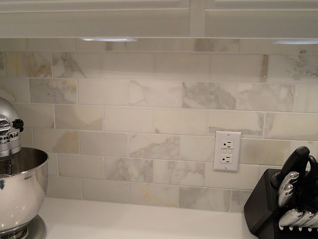 Calacatta Marble Subway Tile Backsplash Calcutta Gold