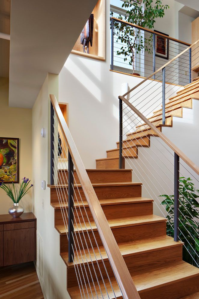 Modern stair railing staircase contemporary with modern stairs durham condos