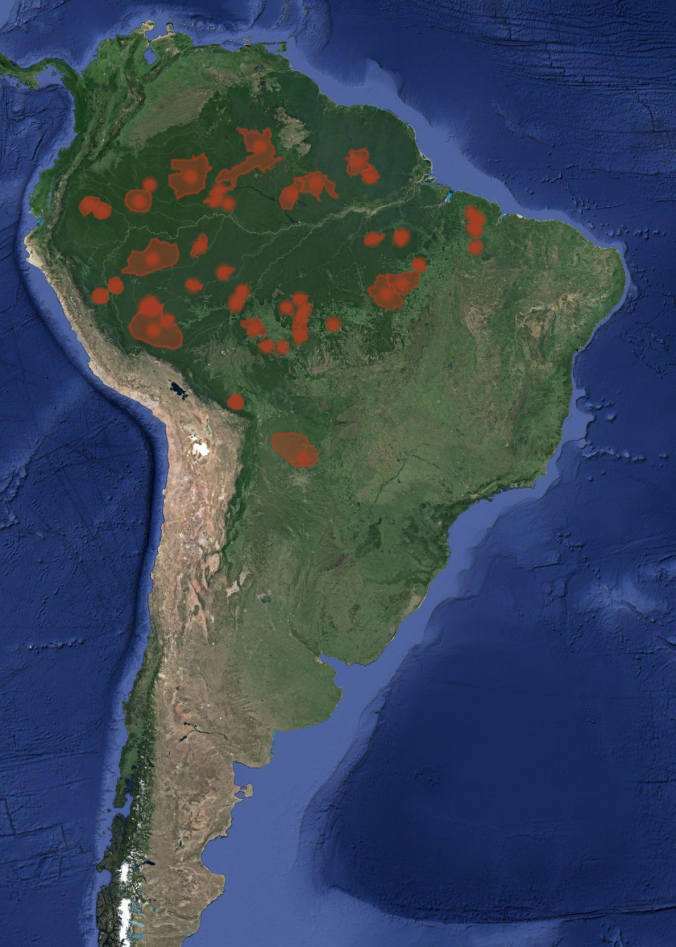 South America Map Borders%0A The approximate locations of uncontacted tribes in South America