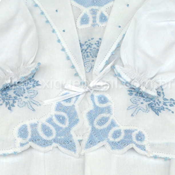 461ba0e1f Pagão Renda Renascença Cambraia Canto Azul (3 peças) - Xique Xique Brasil …
