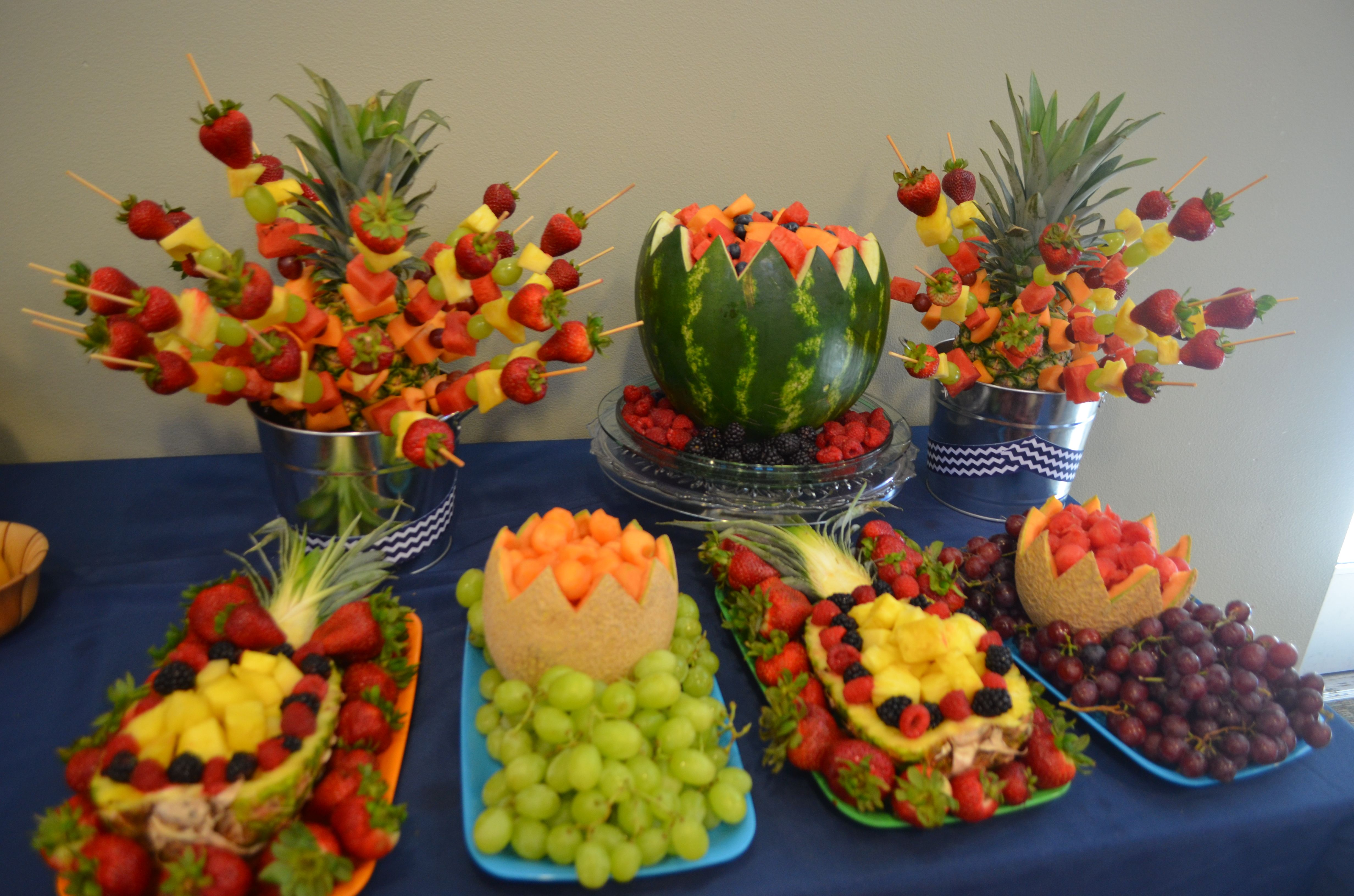 Our Fruit Display From Our Graduation Party Very Easy And Fun To