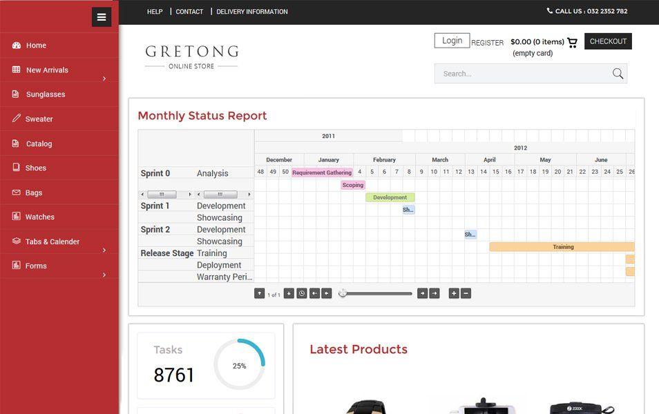 Gretong E Commerce Flat Bootstrap Responsive Admin Panel Templates Dashboard Design Admin