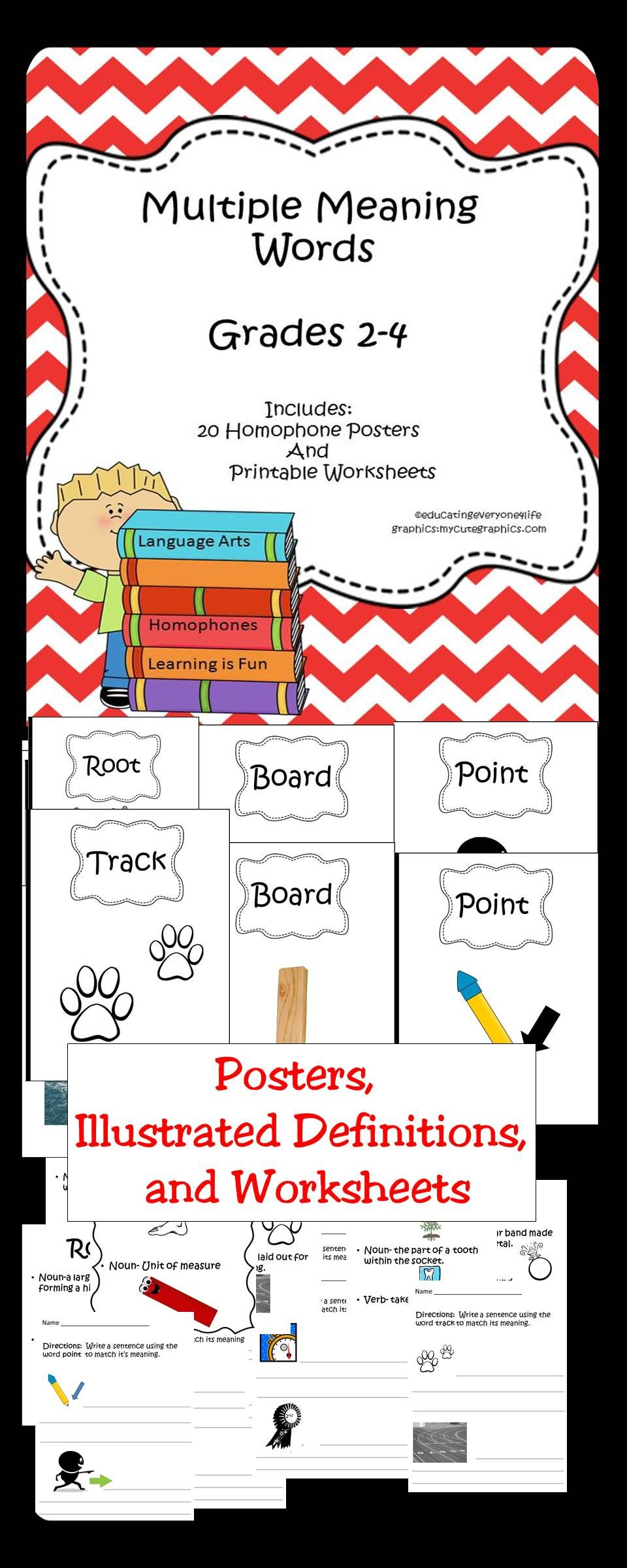 worksheet Multiple Meaning Worksheets multiple meanings posters illustrated definitions and worksheets this activity book is great
