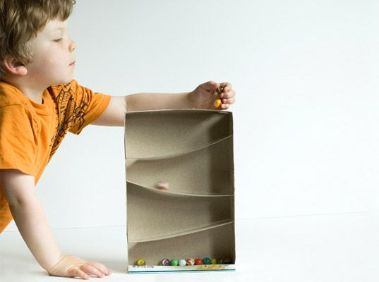 How to make a cereal marble maze