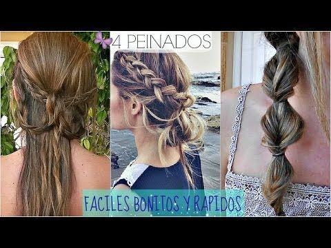4 peinados faciles y rapidos para ir a clase!! back to school hair