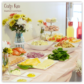 Crafty Kate: Baptism Luncheon Food Table