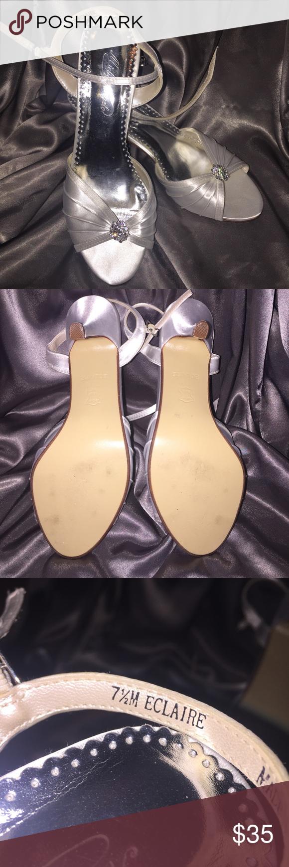 Michaelangelo heals Michaelangelo white heels for prom wedding size 7 1/2 like new worn once beautiful shoes have rhinestones on the top Michelangelo Shoes Heels