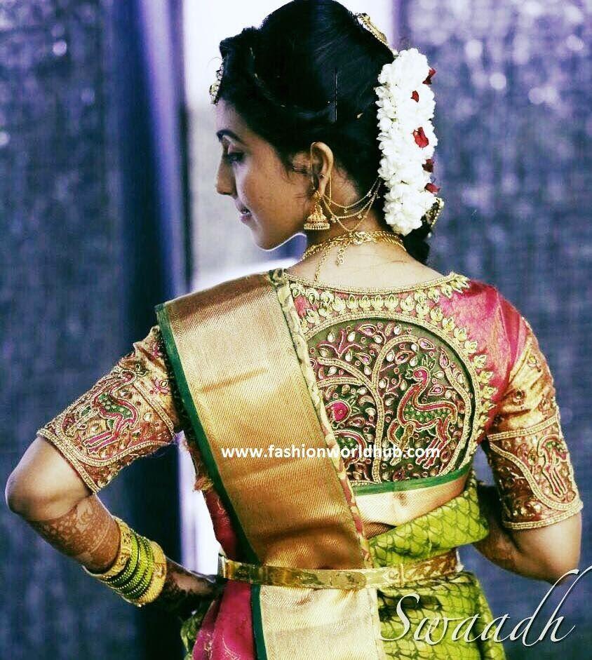sheernet blouse designs