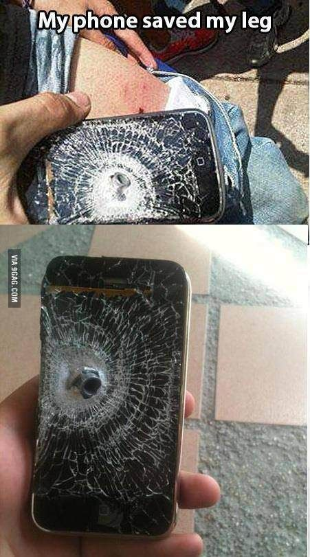 My Phone Saved My Leg Stupid Funny Memes Funny Memes Weird Facts