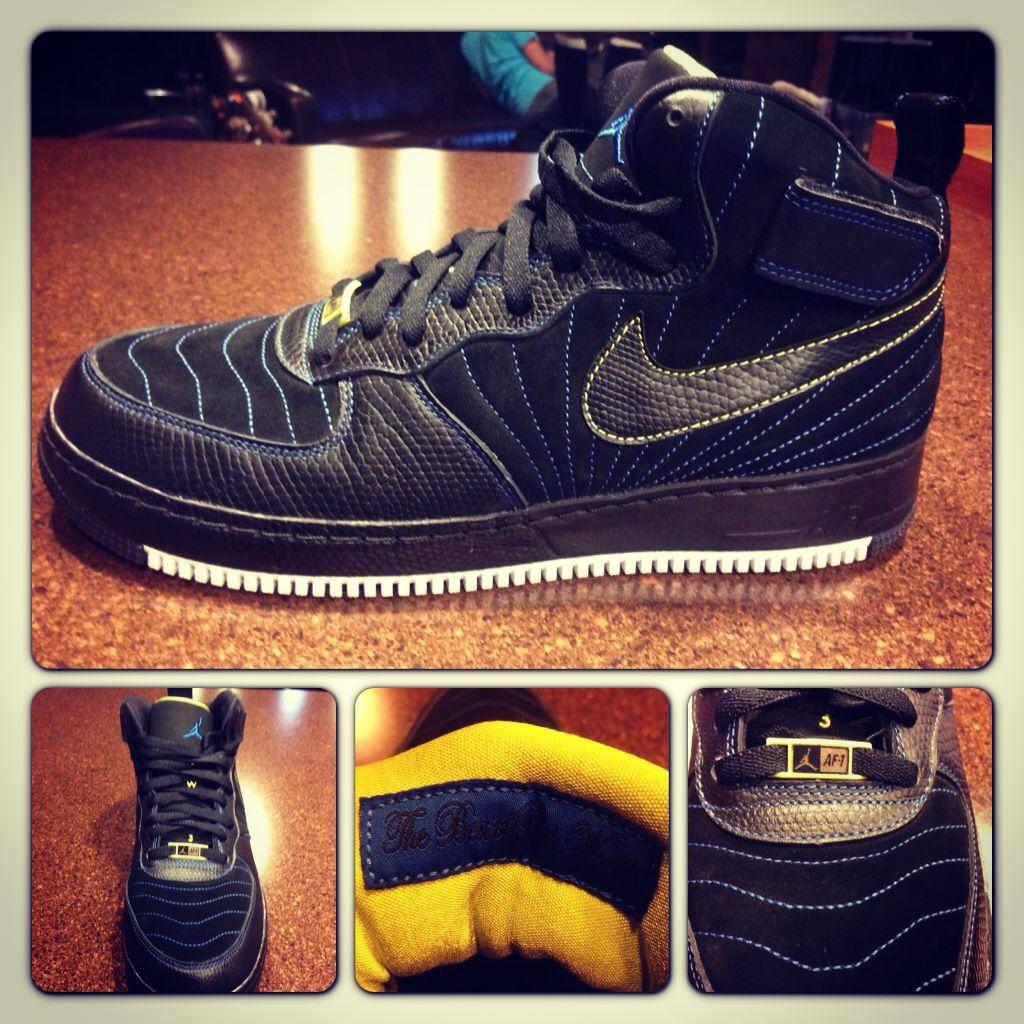Nike Air Jordan Fusion XII Black Blue Sapphire Size 11 for