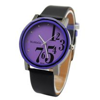 The product is a fashion quartz silicone band wrist watch, it is very popular. Product Description    Details: Band material: leather Case material: stainless steel Round shape dial with rhinestone Clasp: buckle Movement: quartz Product size: L 23.3x W 4cm   Package include: Wrist wa...