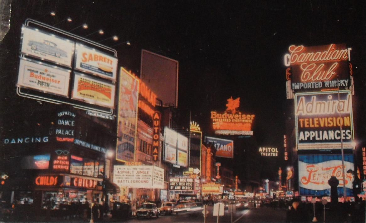 Signs Broadway 1950s
