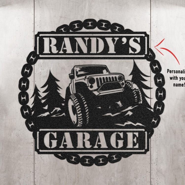 Metal Garage Wall Art For Jeep Lover Offroad Jeep Etsy Personalized Gifts For Dad Personalized Wall Art Jeep Lover