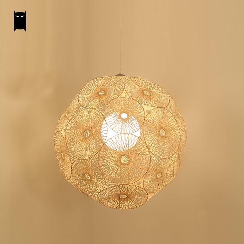 Bambou En Osier Rotin Ronde Globe Balle Sphère Flocon De