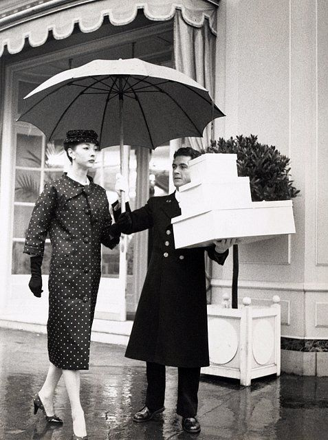 Renee Breton in Dior, photo by Louise Dahl-Wolfe, 1956. Image via Pinterest.