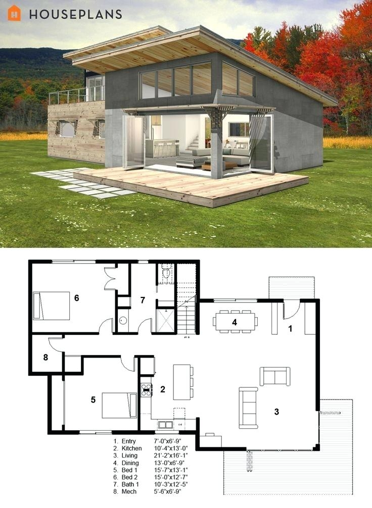 Modern Small House Plans With Garage Underneath Indian Photos One Floor Cabin Plan By Ener Modern Style House Plans Unique House Plans Small Modern House Plans
