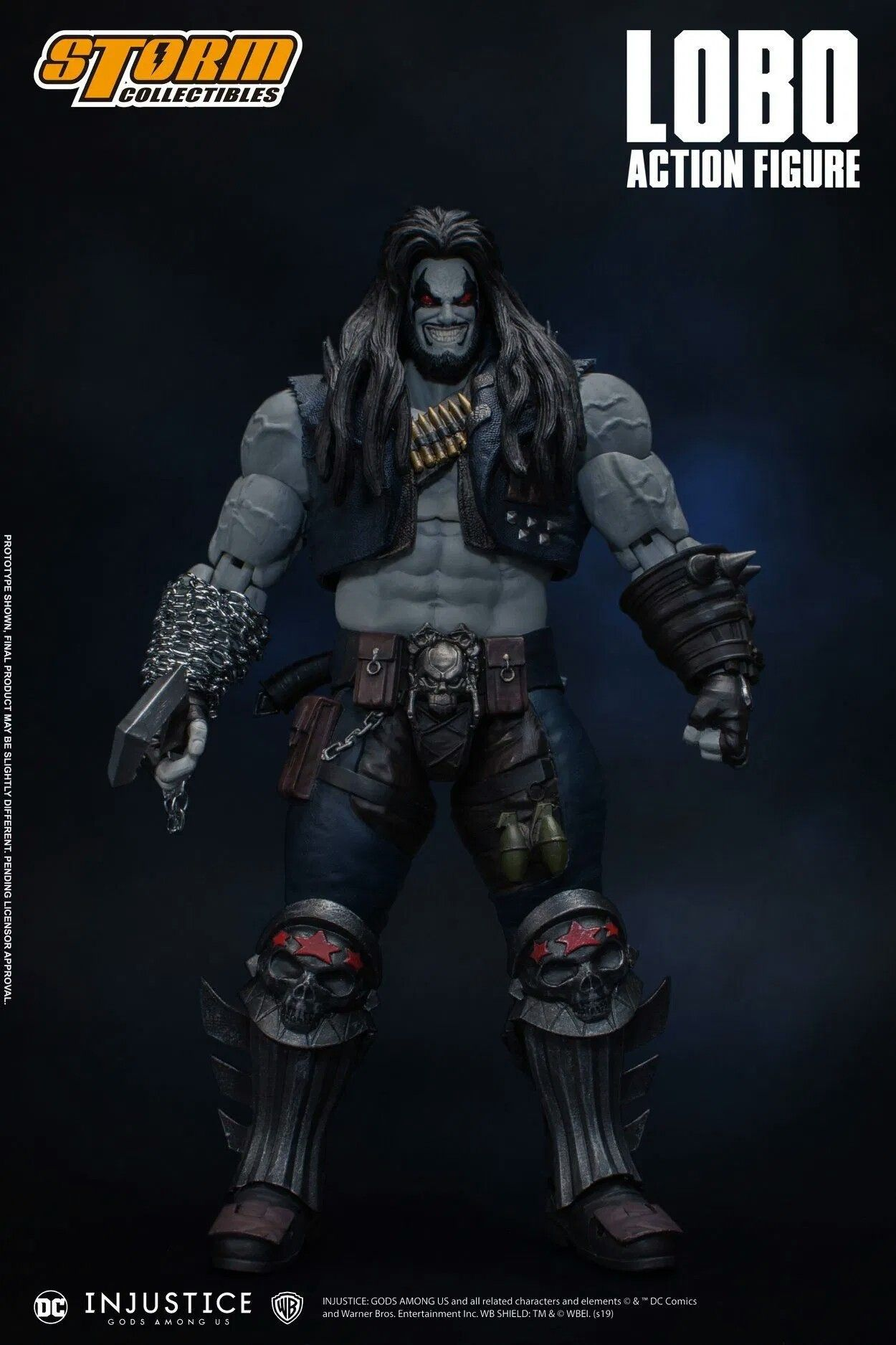 Storm Collectibles Is Bringing Us An Injustice Lobo That Any Fan Of The Main Man Is Going To Want The New 1 12 Scale Lo Injustice Action Figures Dc Injustice
