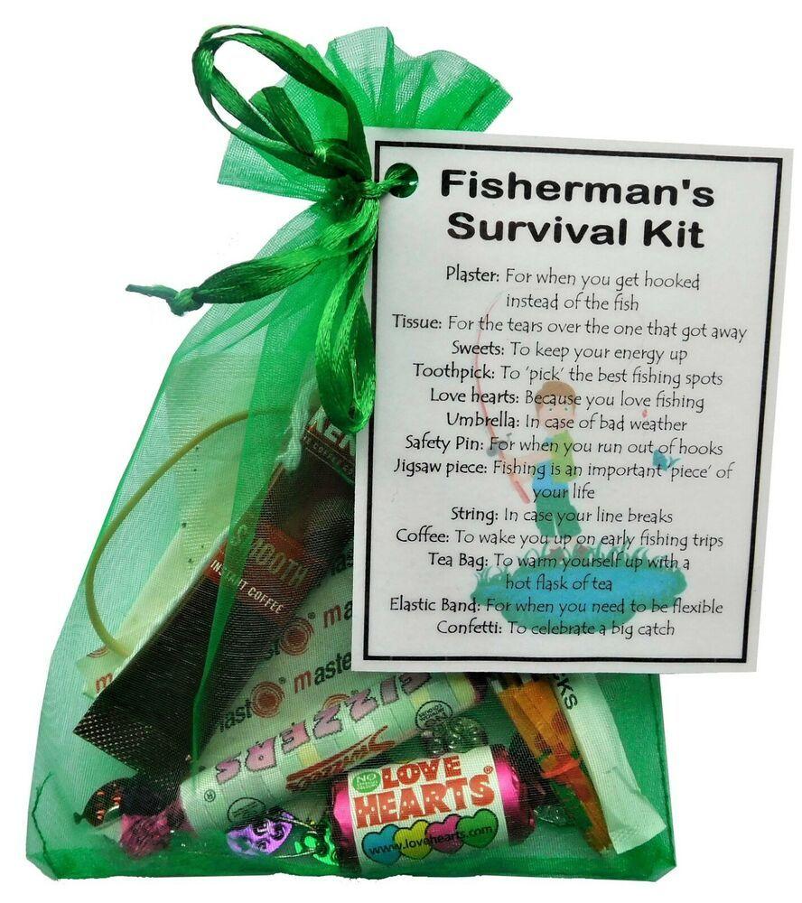 Fishermans survival kit fishing gift novelty fishing