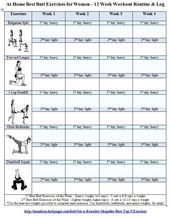 Free Printable Gym Workout Routines   Workout Log for Women …