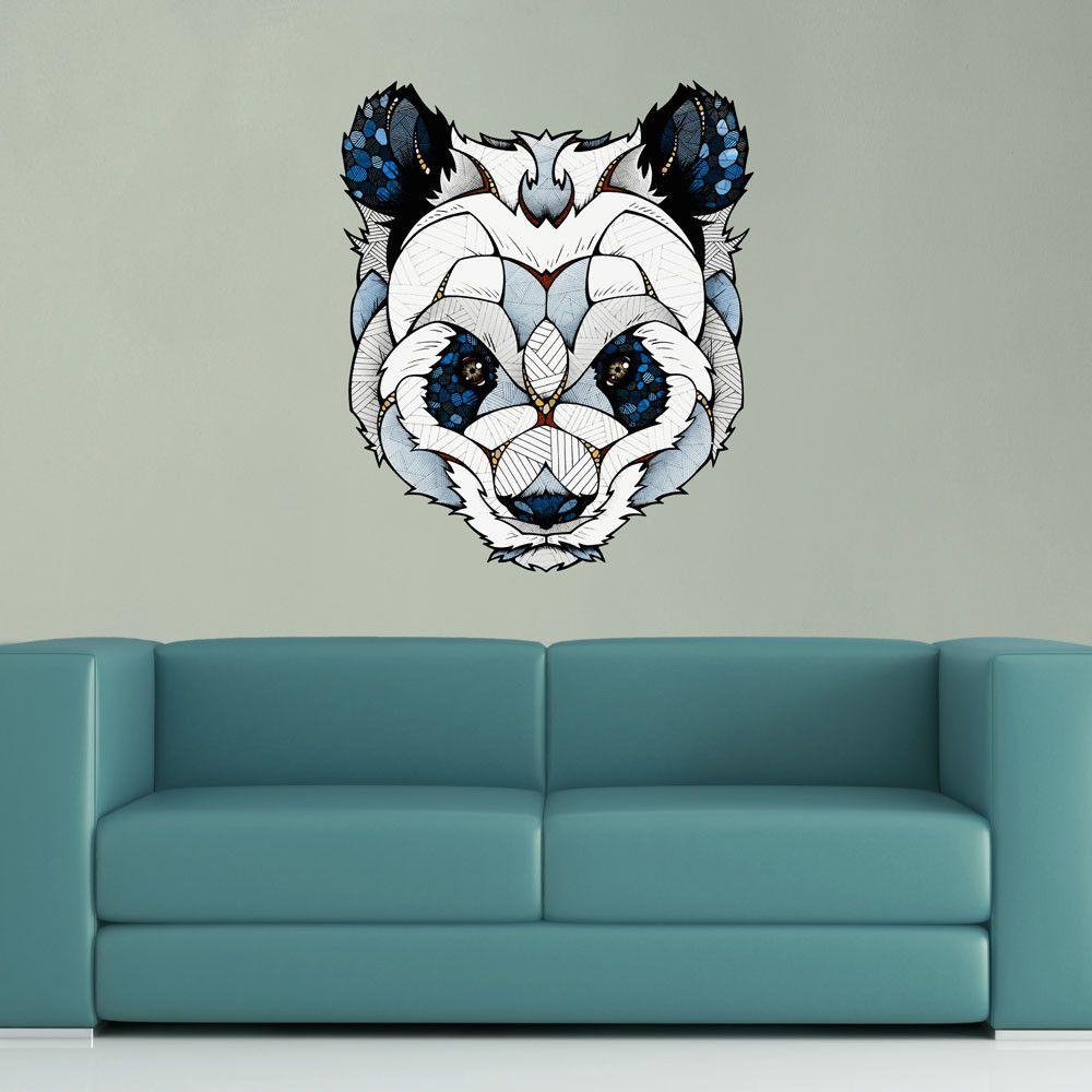 big panda wall sticker decal by andreas preis color blue panda big panda wall sticker decal by andreas preis