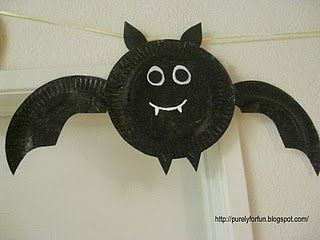bat paper plate craft & bat paper plate craft | DREAM BIG SRP | Pinterest | Paper plate ...