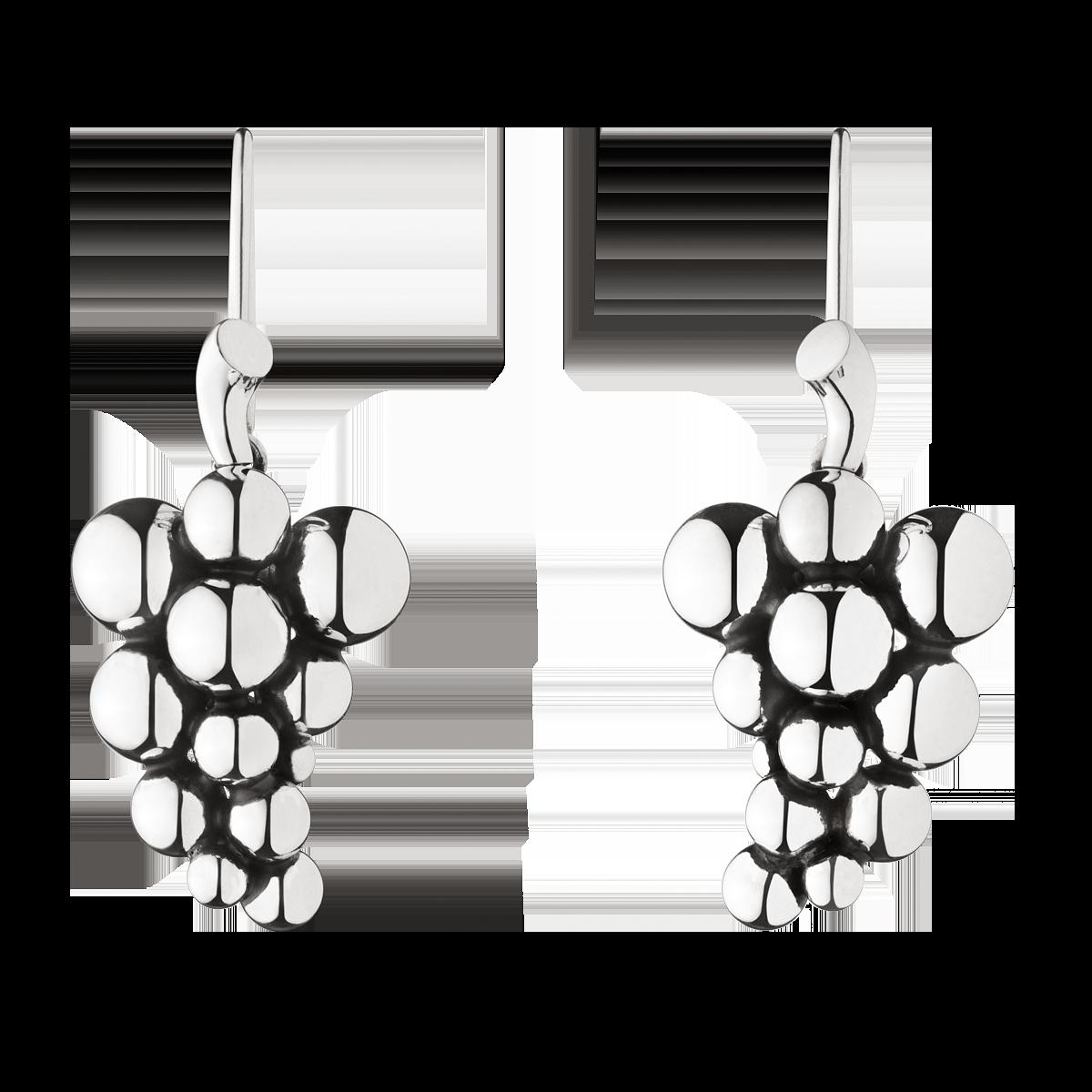4f28356d54d Georg Jensen (Denmark), øreringe - oxideret sterling sølv. (