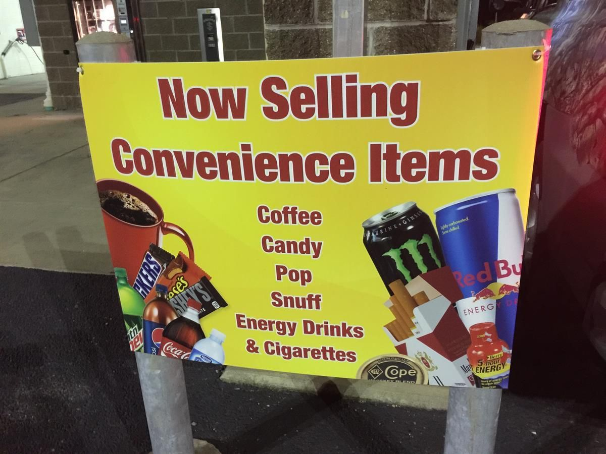 Durable Corrugated Plastic Sign For Outside Of A Convenience Store Outdoorsign Pittsburgh Mrsign Yard Signs Outdoor Signs Plastic Signs