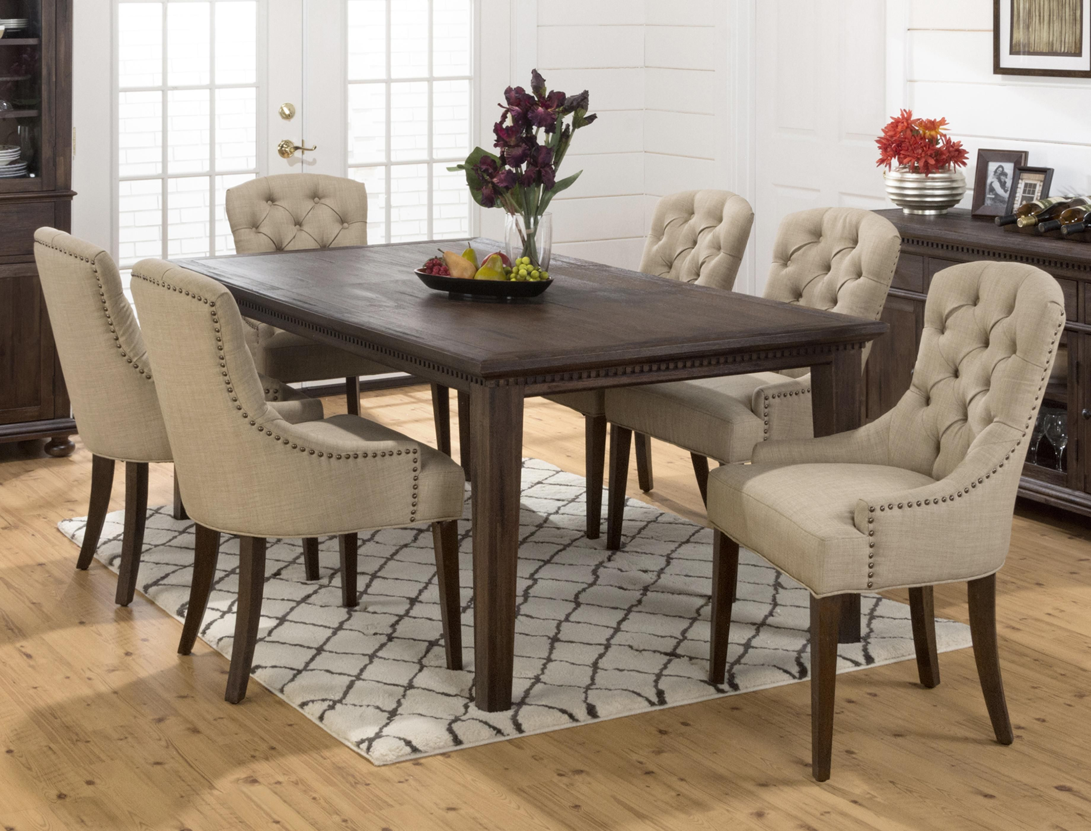 27 How To Use Upholstered Chairs For Dining Room Decoration To Look Inviting Brown Dining Room Set Dining Room Sets Tufted Dining Room Chair Fabric chairs for kitchen table