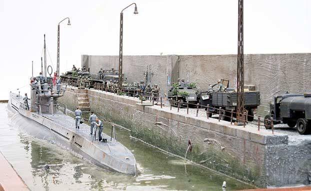 U-Boot diorama
