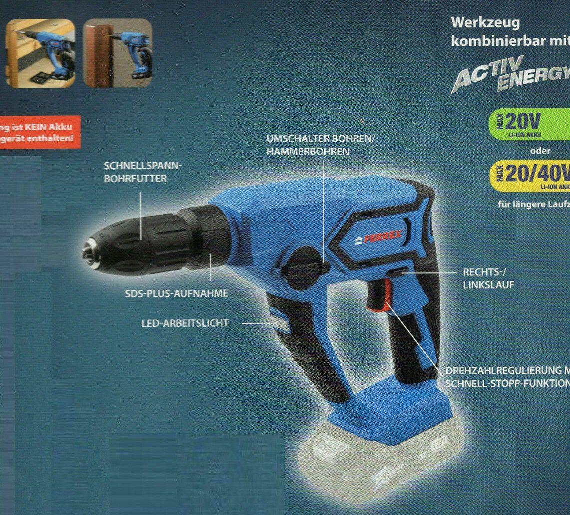 Aldi Ferrex 20 V Akku Bohrhammer Gunstig Online Kaufen Test Aldido Aldi Bohrhammer Bohren