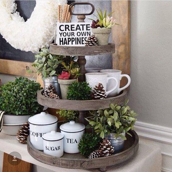 The Charlotte Wooden 3 Tier Tray Interieur Keuken Idee Decoratie Thuis En Keuken Decoratie