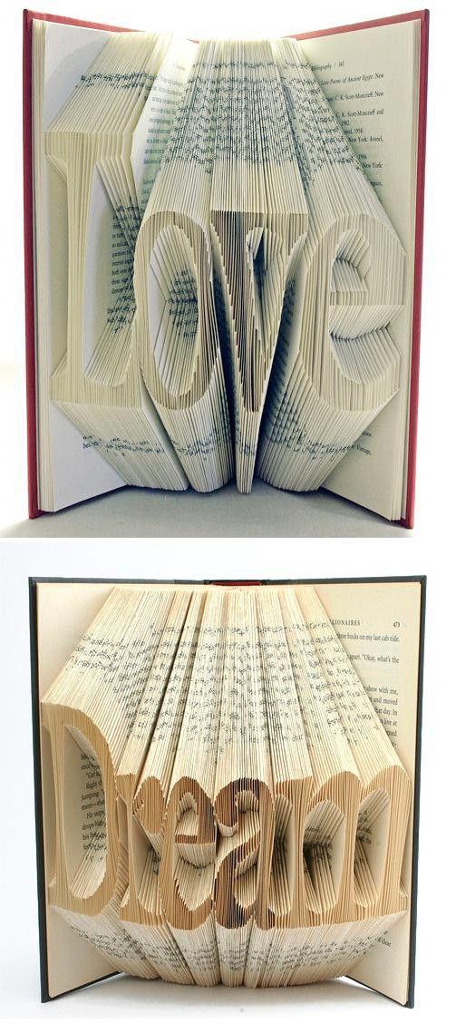 Verbazingwekkend Leuk gedaan met oude boeken. (met afbeeldingen) | Oud boek knutsel JB-98