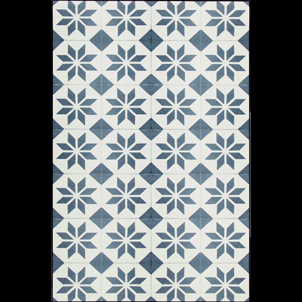tapis en vinyle gris et blanc 100x150cm