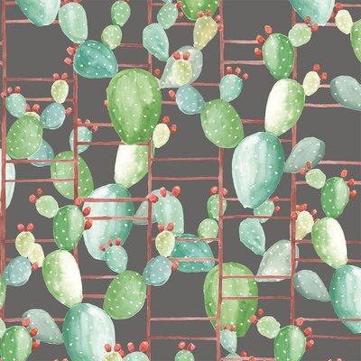 "Coordonne Chumbera 33' x 18.9"" Wallpaper Roll Color: Plomo"