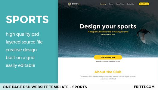 one page psd website template free website templates psd