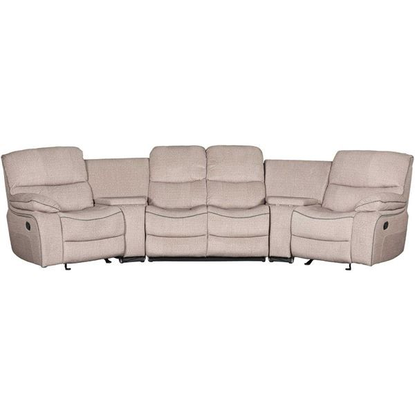 Picture Of Vern 5 Piece Reclining Sectional Reclining