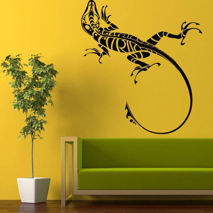 Wall Decals Vinyl Sticker Decal Decorated Animal Lizard Art Interior Decor m89  sc 1 st  Pinterest & Wall Decals Vinyl Sticker Decal Decorated Animal Lizard Art Interior ...