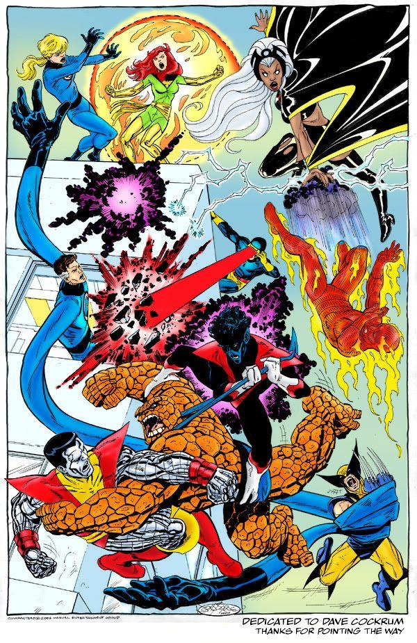 X Men Vs Fantastic Four Marvel And Dc Superheroes Superhero Images Marvel Art
