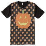 Pumpkin Halloween Panel T-Shirt #halloween #happyhalloween #halloweenparty #halloweenmakeup #halloweencostume