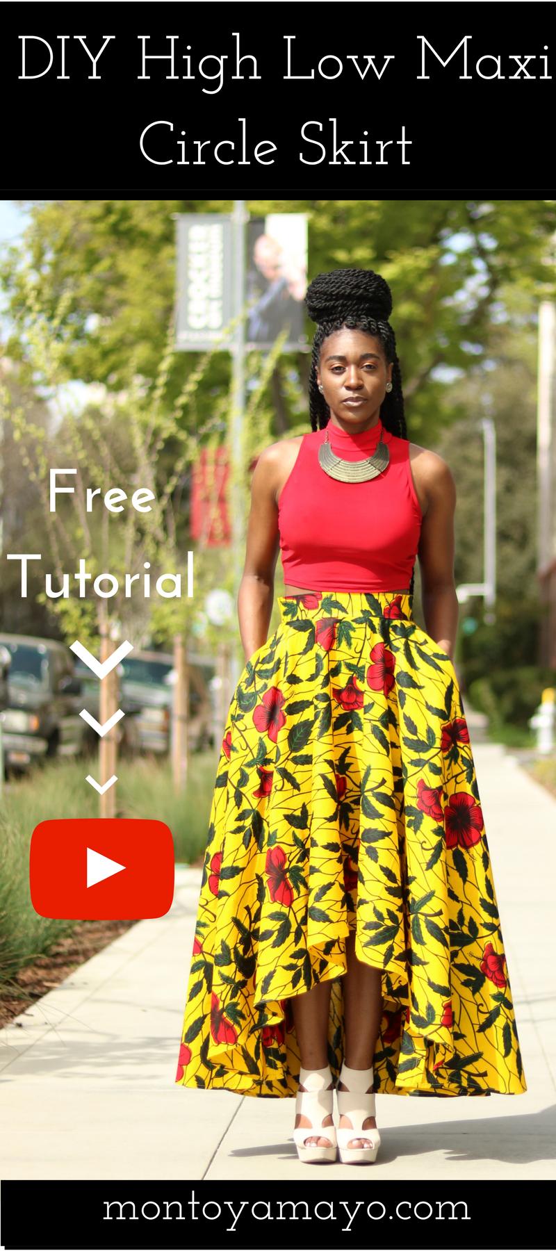 DIY High Low Maxi Circle Skirt Tutorial