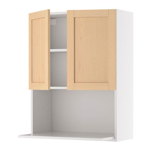 akurum wall cabinet for microwave oven white orsa birch 24x39