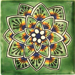 Mexican Talavera tile: cola pavo verde | home ideas | Pinterest ...