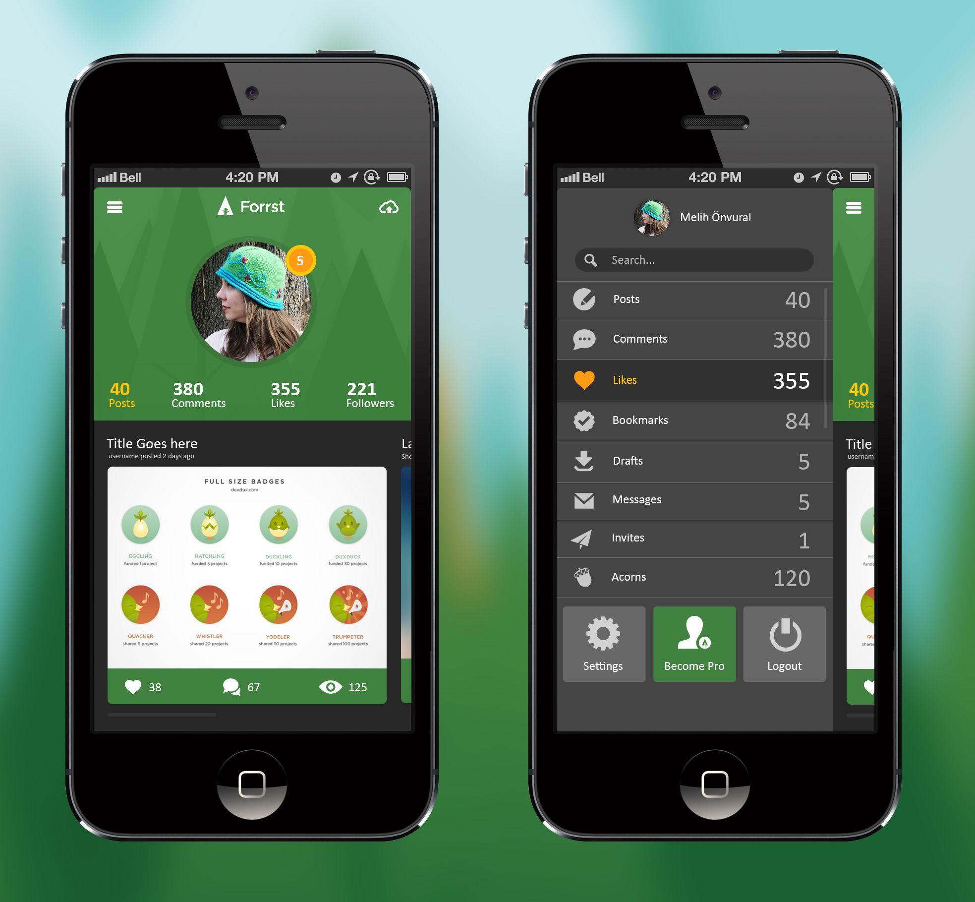 Forrst Mobile #App #UI design | UI | Pinterest | App ui design ...