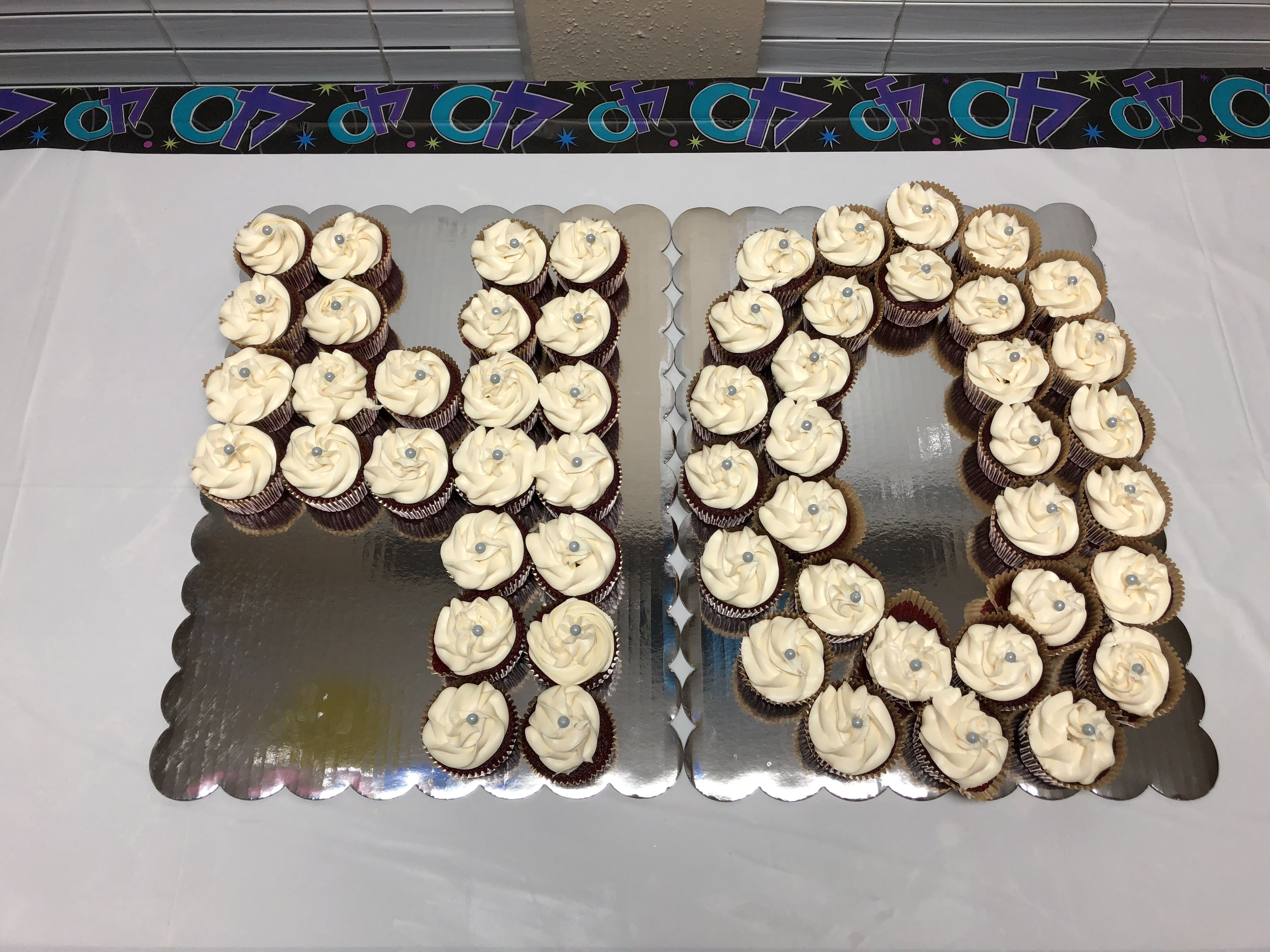 Excellent 40Th Birthday Cupcake Cake 40Th Birthday Cupcakes 40Th Birthday Funny Birthday Cards Online Aeocydamsfinfo
