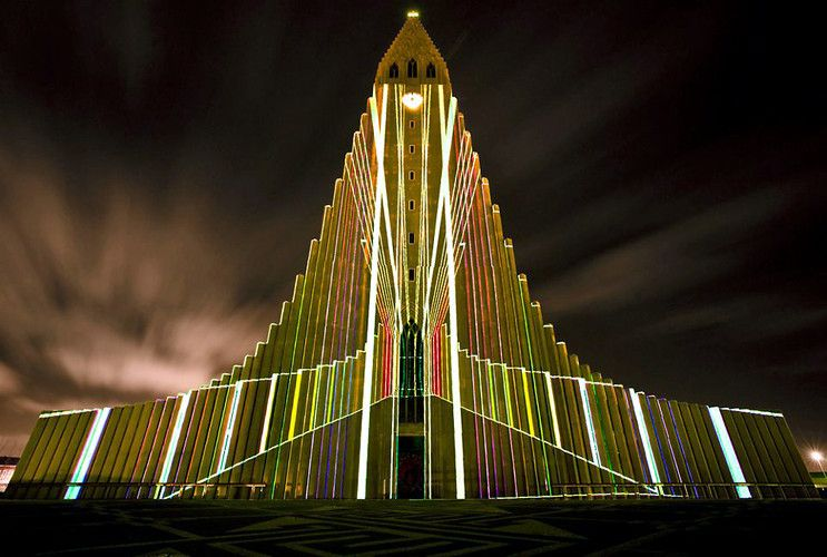 7 | Iceland's Most Famous Church Becomes Canvas For A Trippy Light Show | Co.Design: business + innovation + design