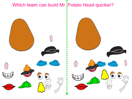 body parts mr potato head game give directions using