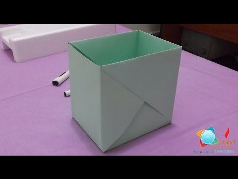 how to make a strong box from paper- Origami - HD | Book folding ...